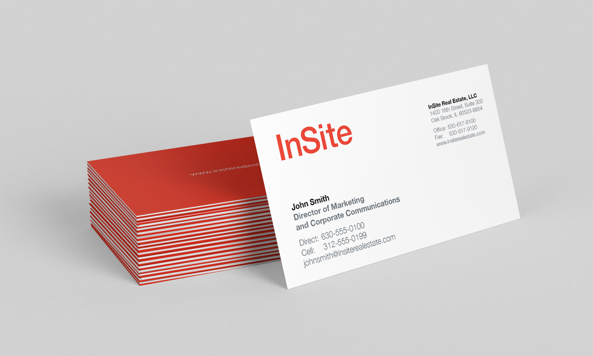 InSite Real Estate Business Cards