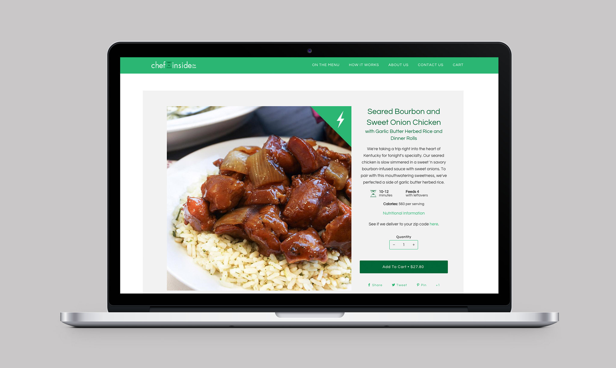 Chef Inside the Box Website Product Page