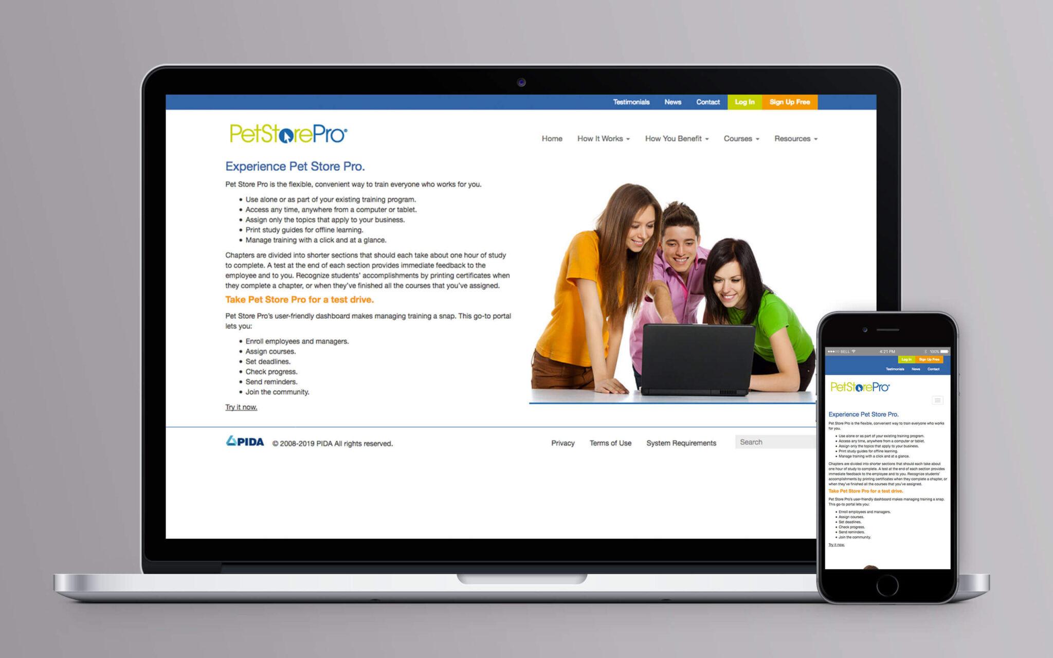 Pet Store Pro Website Experience