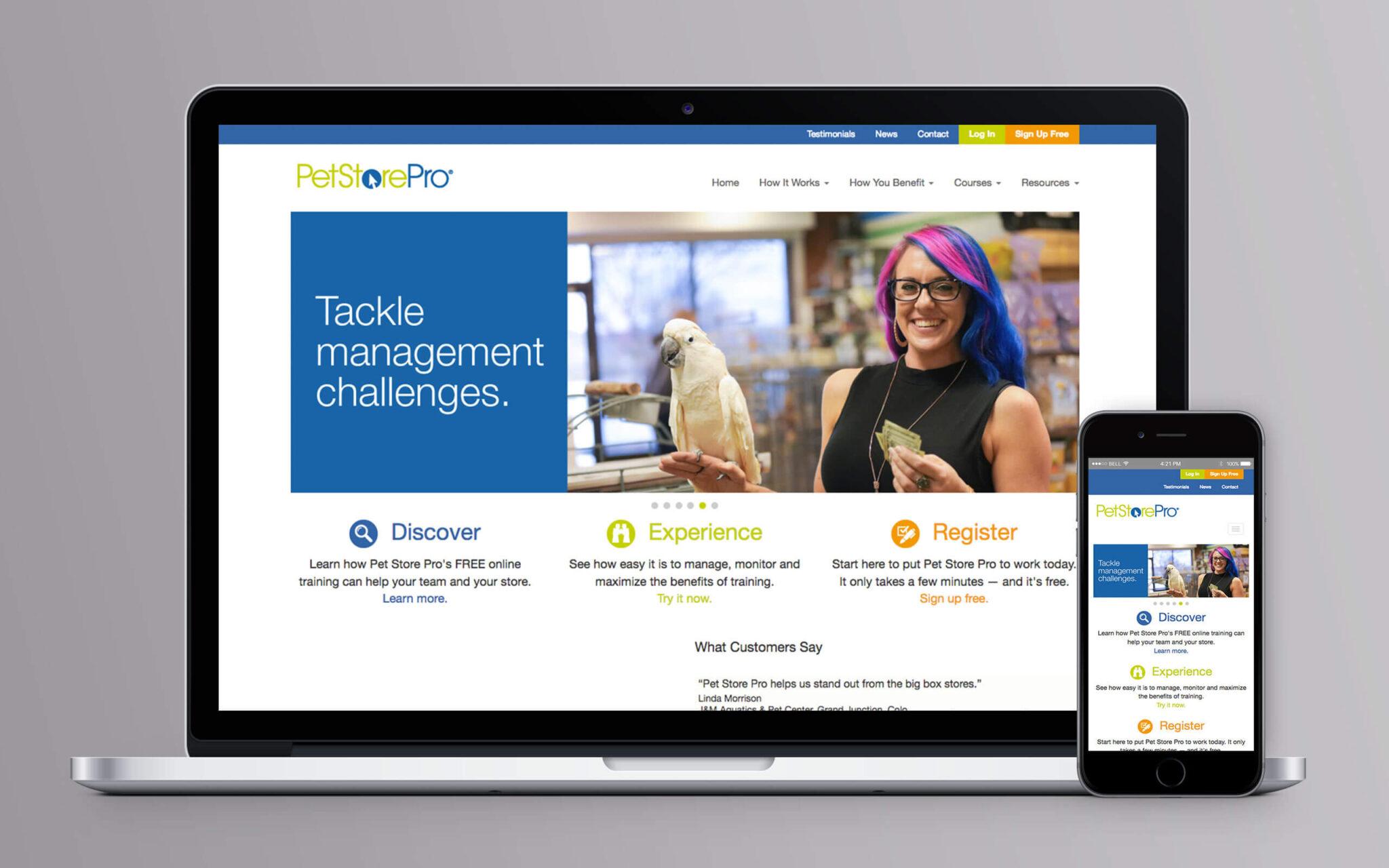 Pet Store Pro Website Home
