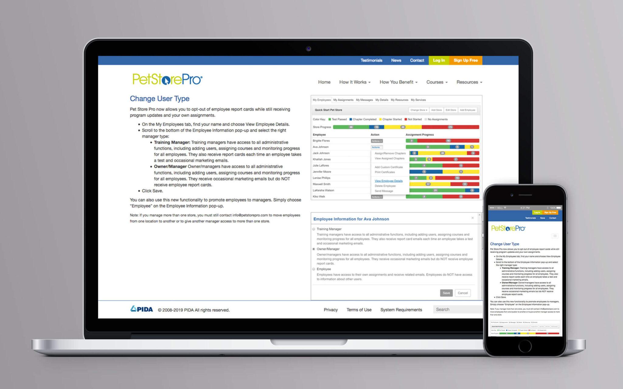 Pet Store Pro Website Test Drive
