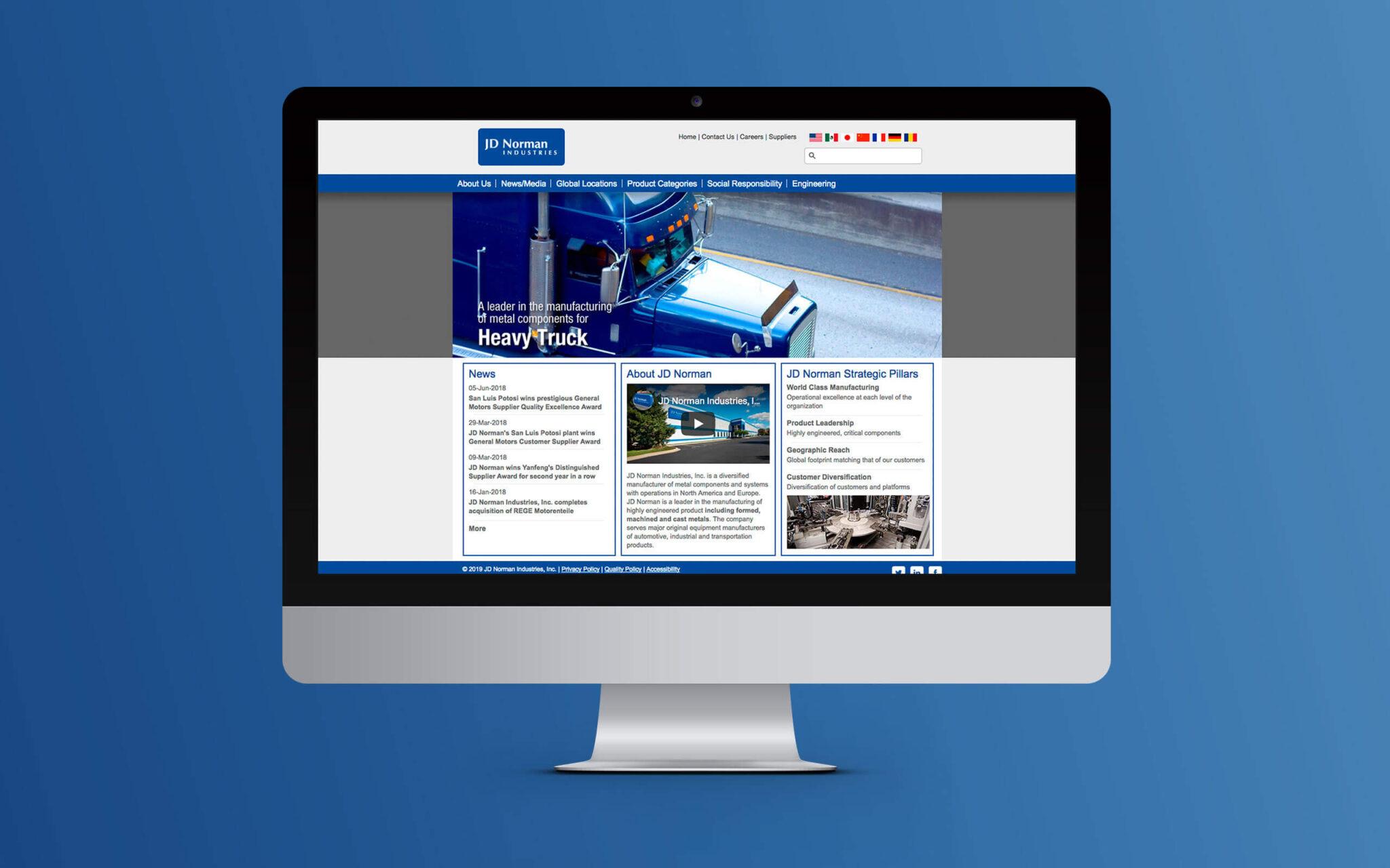 JD Norman Industries Website Home