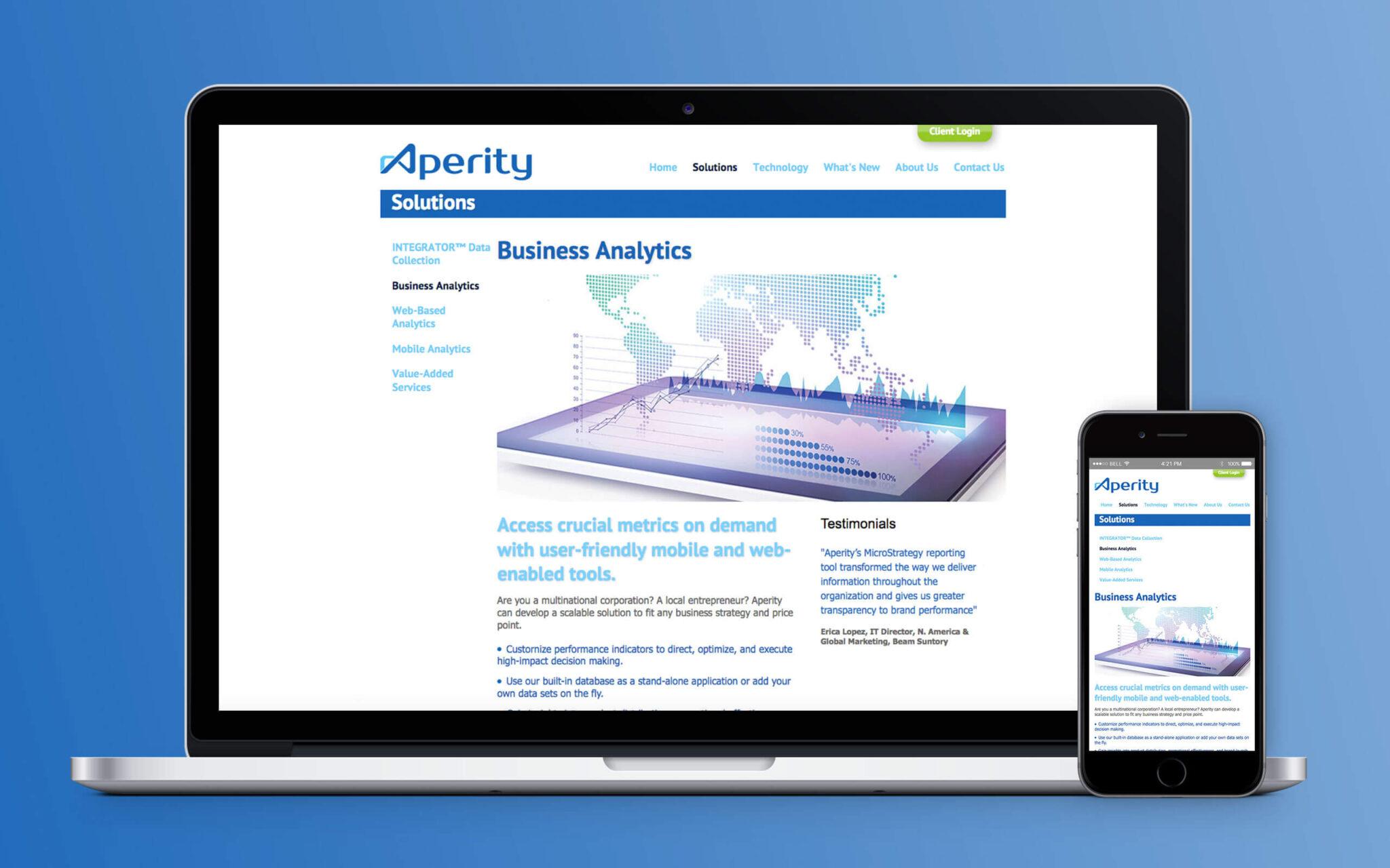 Aperity Website Integrator