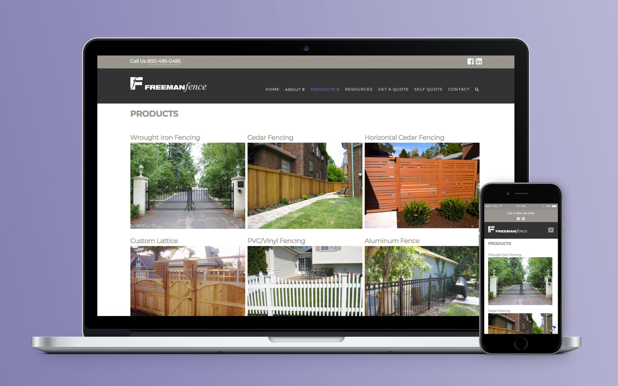 Freeman Fence Website Products