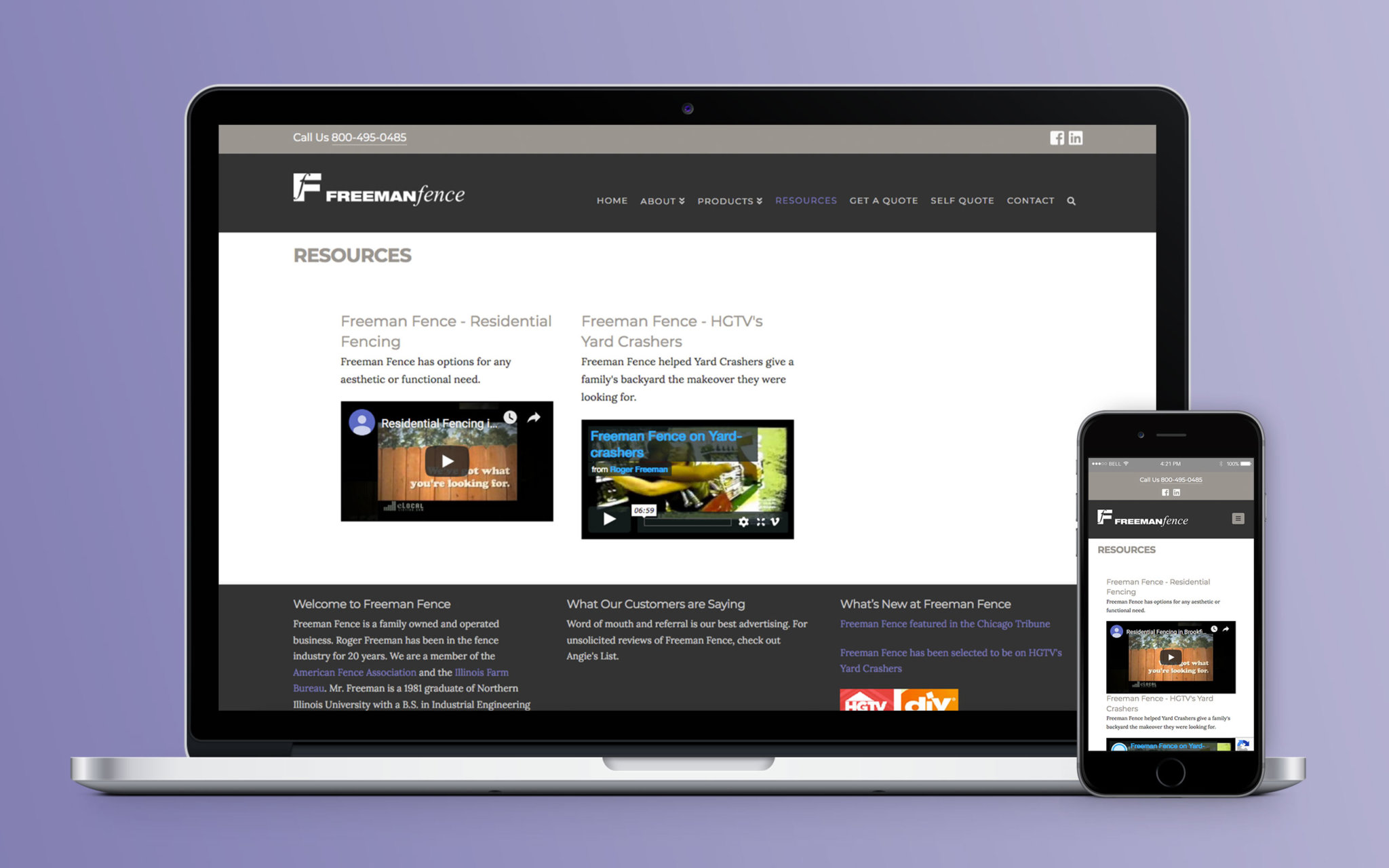 Freeman Fence Website Resources