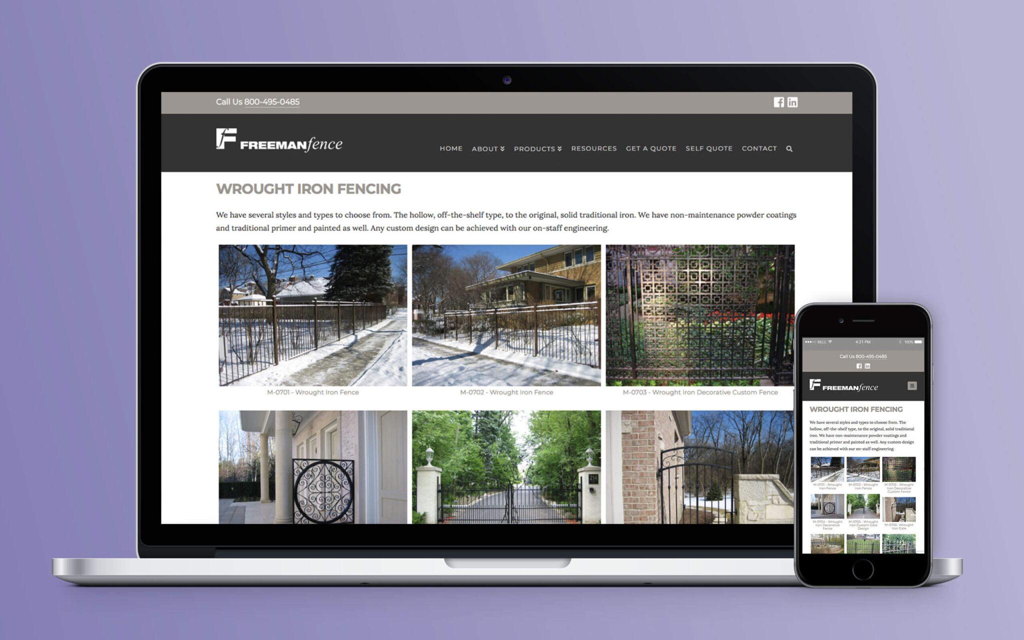 Freeman Fence Website Wrought Iron