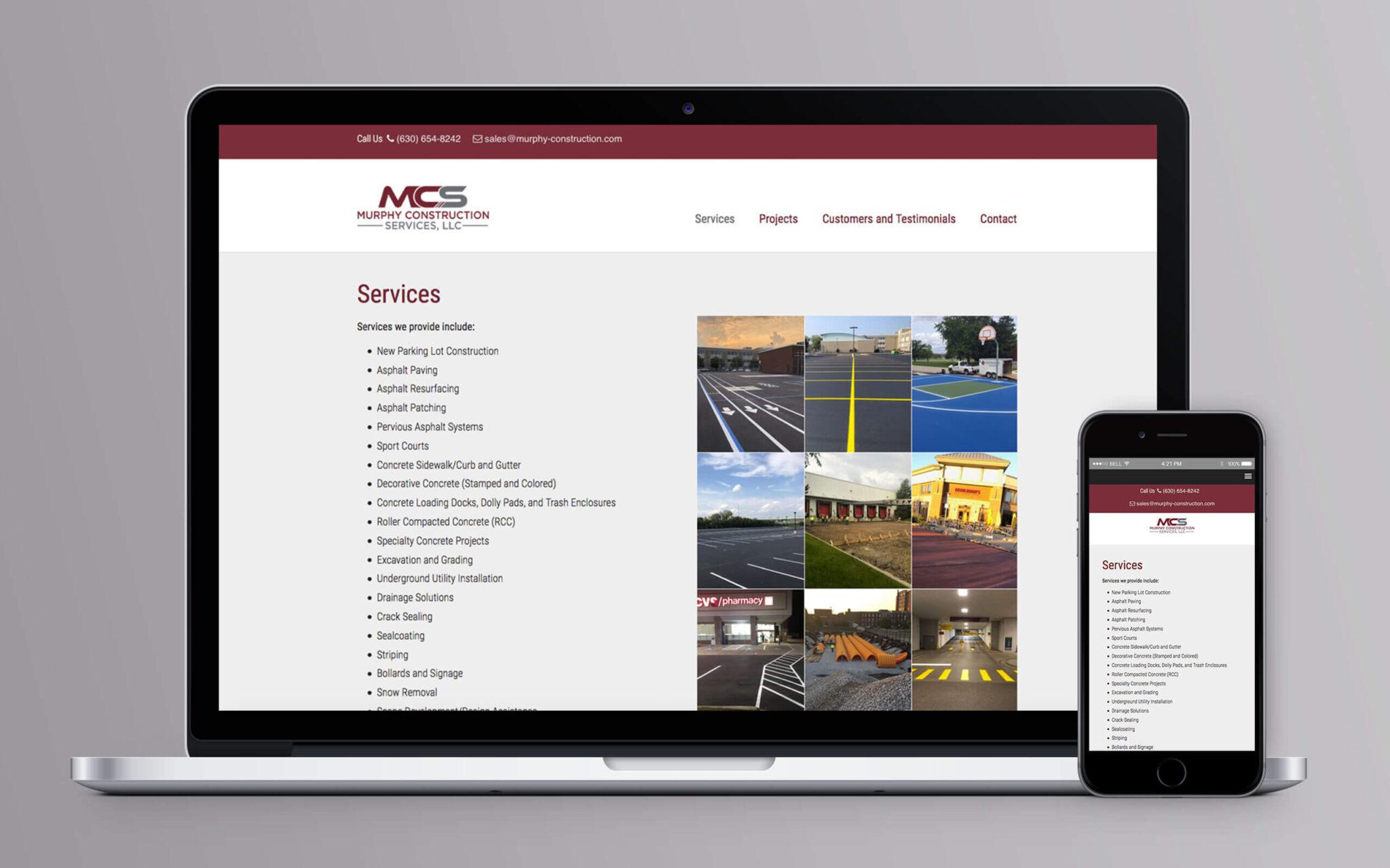 Murphy Construction Website Inside