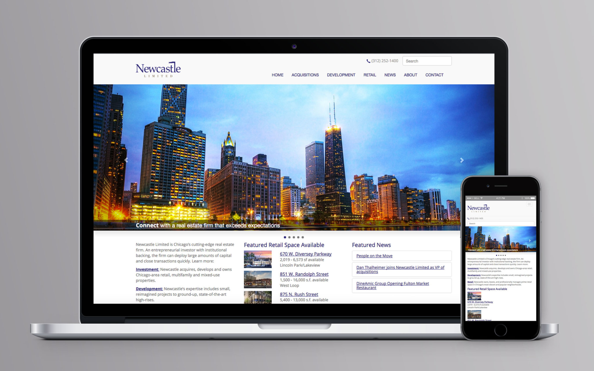 Newcastle Limited Website Home