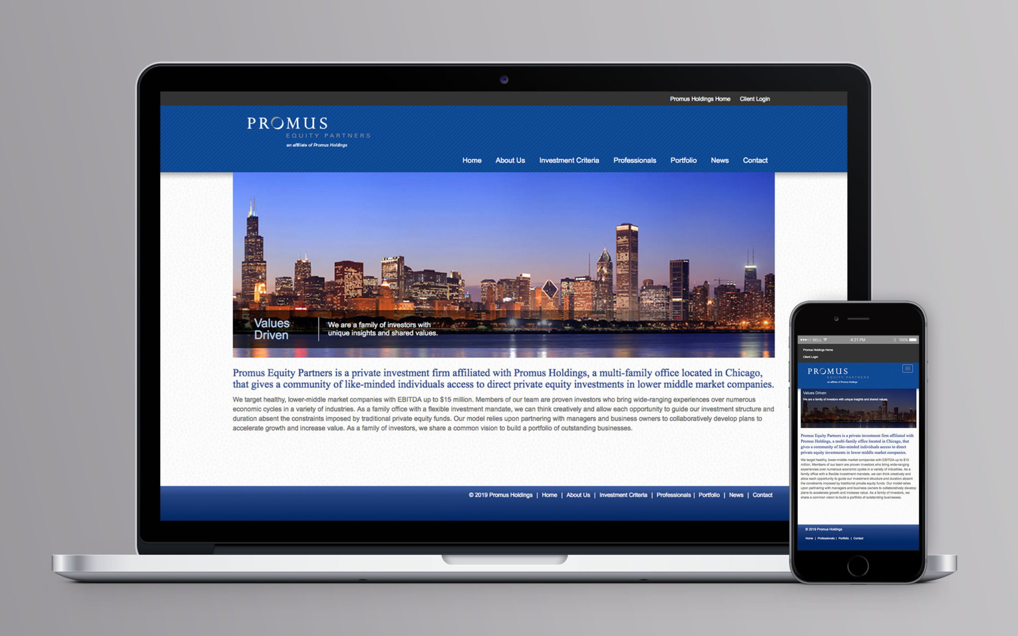 Promus Equity Website Home