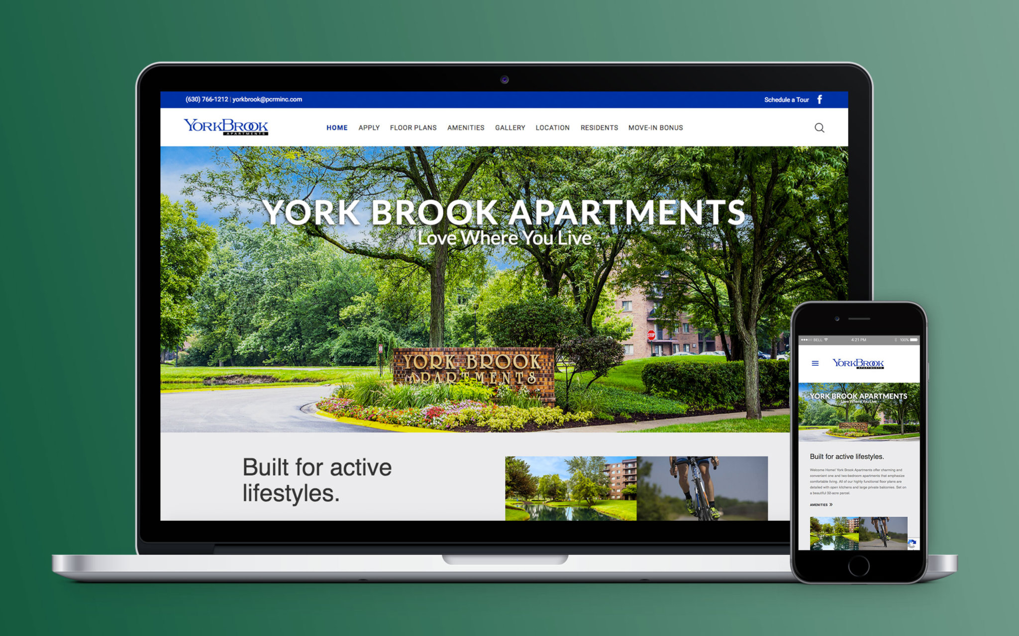 Yorkbrook Apartments Website Home