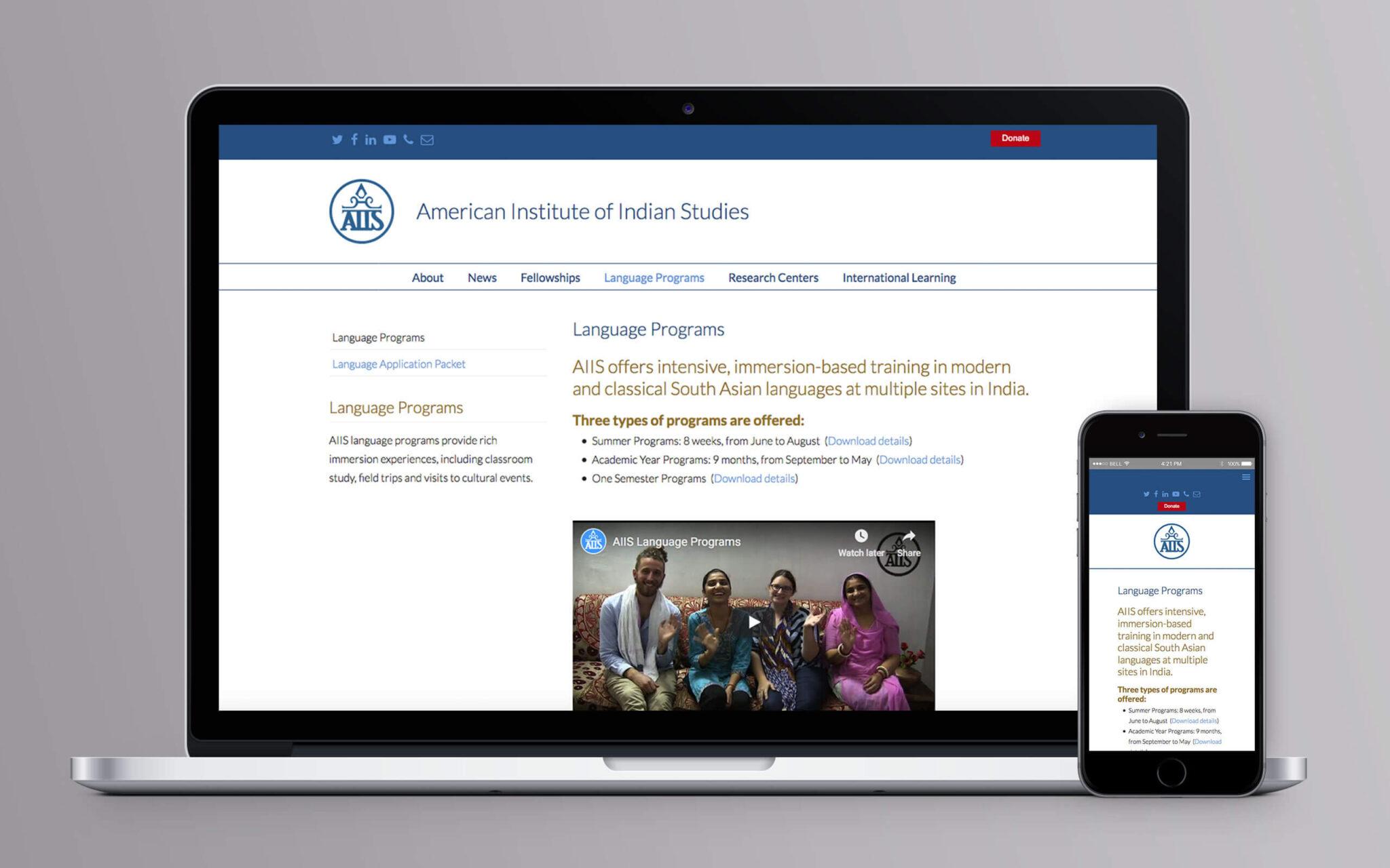 American Institute of Indian Studies American Institute of Indian Studies Website Language