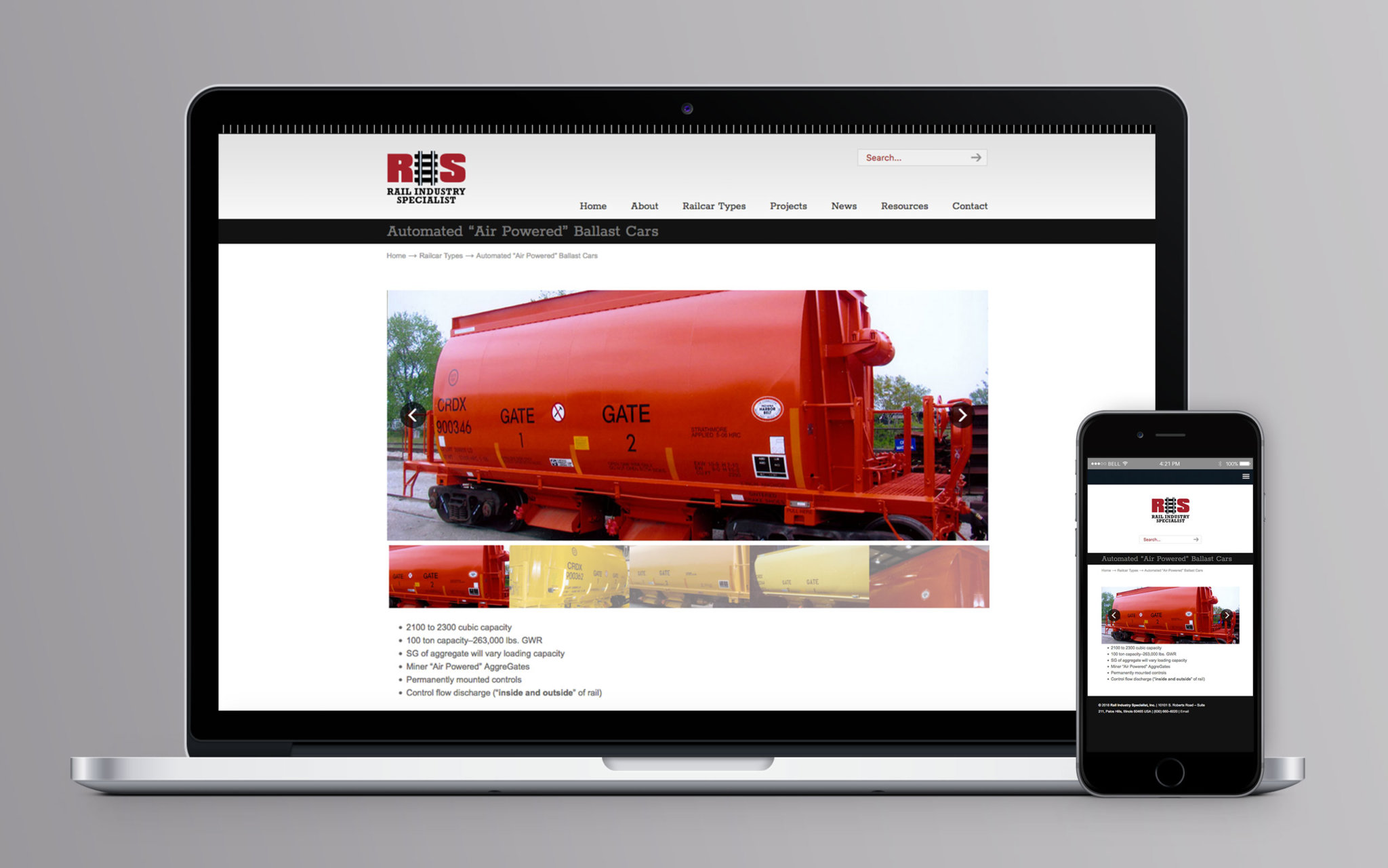 Rail Industry Specialist Website Automated Air Powered Ballast Cars
