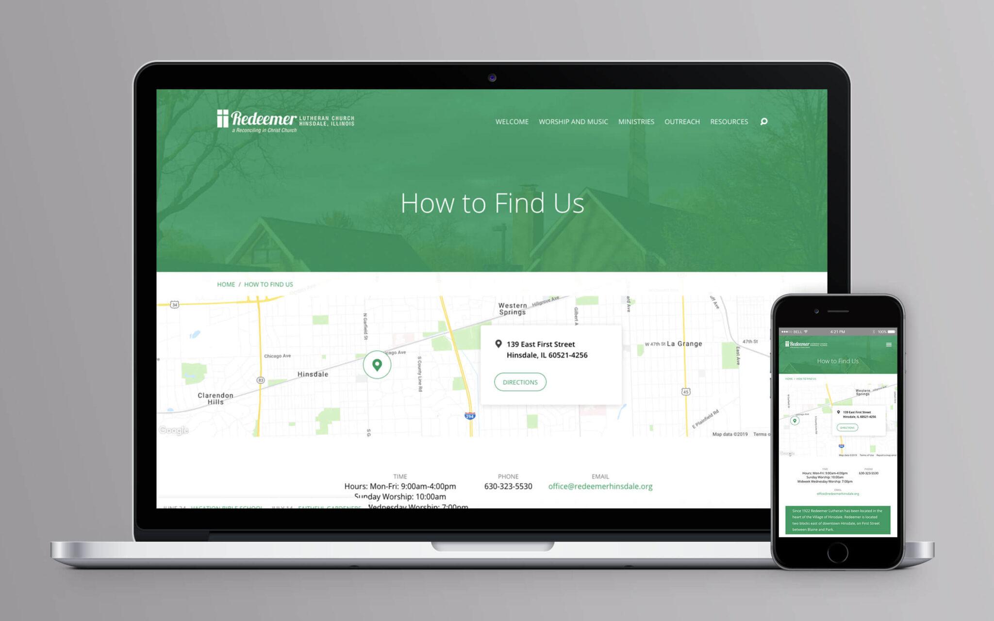 Redeemer Lutheran Church Website Location