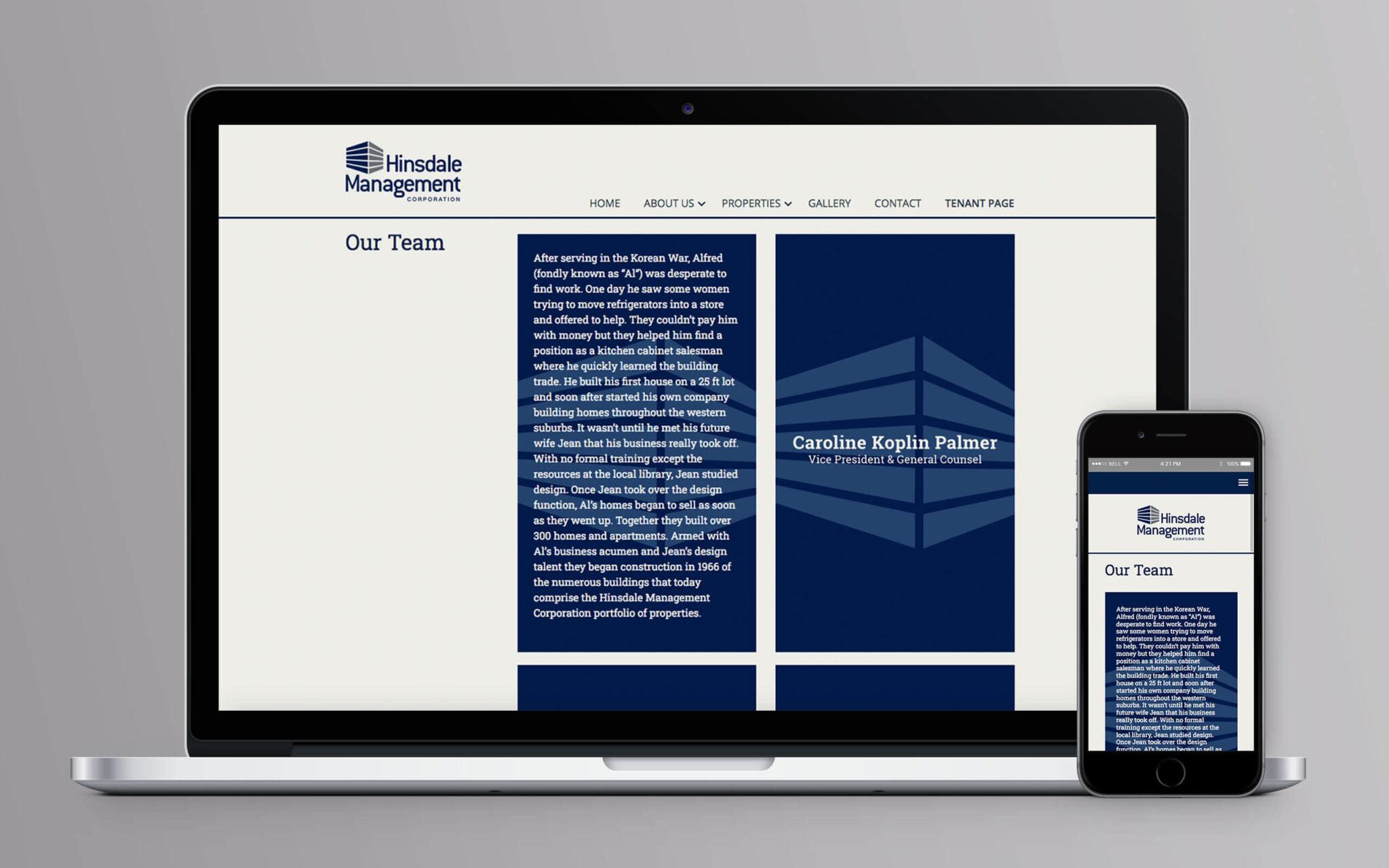 Hinsdale Management Corporation Website Team